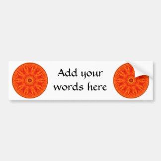 Orange Roses kaleidoscope Car Bumper Sticker