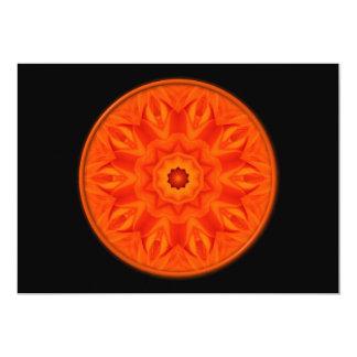 Orange Roses kaleidoscope Card