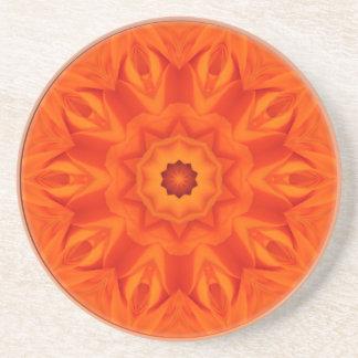 Orange Roses kaleidoscope Coaster