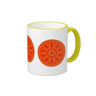 Orange Roses kaleidoscope Coffee Mugs