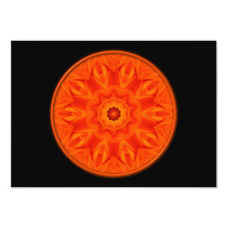 Orange Roses kaleidoscope 5x7 Paper Invitation Card