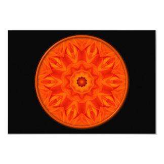 Orange Roses kaleidoscope 3.5x5 Paper Invitation Card