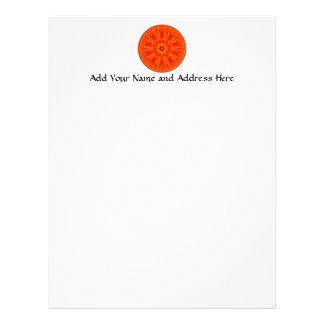 Orange Roses kaleidoscope Letterhead Template
