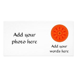 Orange Roses kaleidoscope Personalized Photo Card