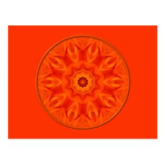 Orange Roses kaleidoscope Postcard