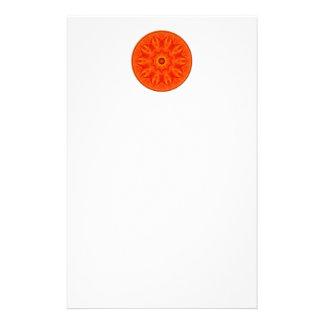 Orange Roses kaleidoscope Stationery Paper