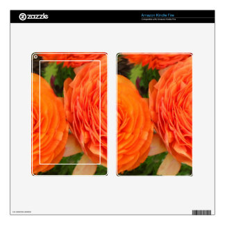Orange Roses Kindle Fire Decals