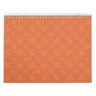 orange roses pattern calendar
