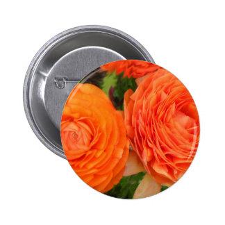Orange Roses Pin