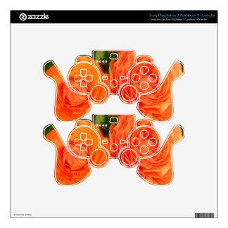 Orange Roses Skin For PS3 Controller