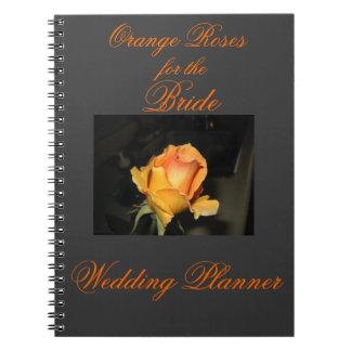 Orange Roses Wedding Planner Note Books