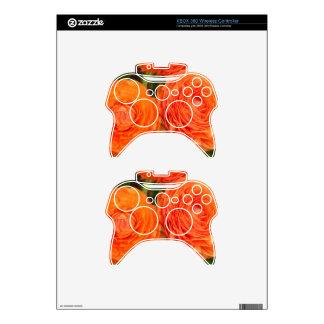 Orange Roses Xbox 360 Controller Decal