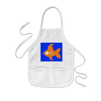 Orange Roughly Glamorous Goldfish Apron