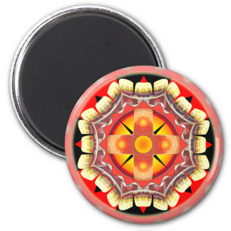 Orange Roulette 2 Inch Round Magnet