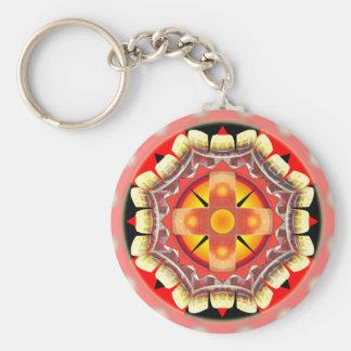 Orange Roulette Basic Round Button Keychain