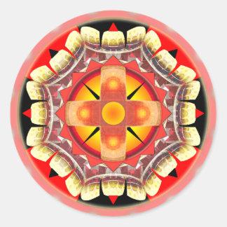 Orange Roulette Classic Round Sticker