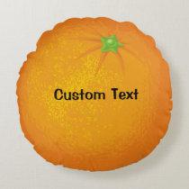 Orange Round Pillow
