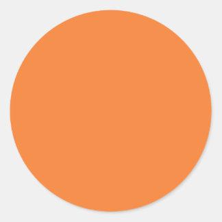 Orange Round Sticker