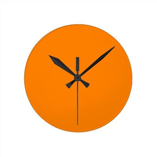 Orange Round Wall Clock