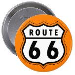 Orange Route 66 Road Sign Pin