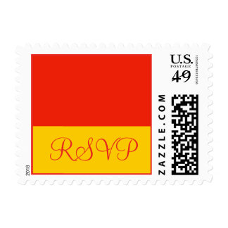 orange RSVP Stamp