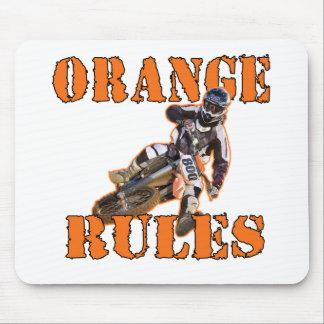 Orange Rules Mouse Pad