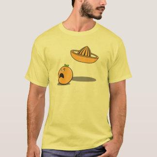 Orange Running From Juicer T-Shirt