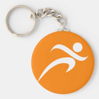 Orange Running; Runner Keychain