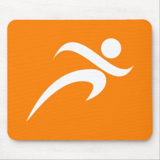 Orange Running; Runner Mouse Pad