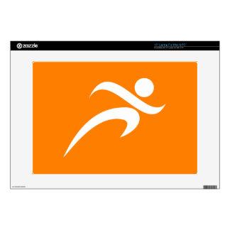 "Orange Running; Runner 15"" Laptop Skins"