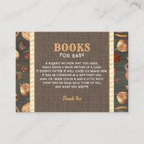 Orange Rustic Pumpkins Books For Baby Enclosure Card