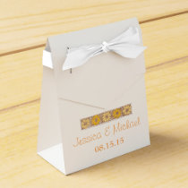Orange Rustic Wildflower Favor Box
