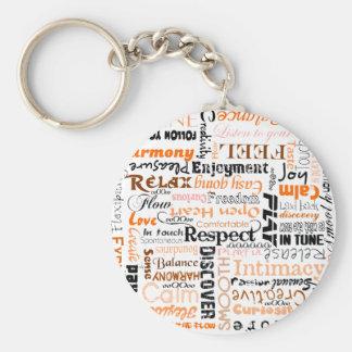 Orange Sacral Chakra Positive Affirmations Basic Round Button Keychain