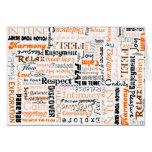 Orange Sacral Chakra Positive Affirmations Greeting Cards