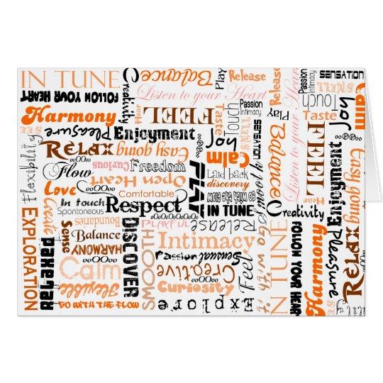 Orange Sacral Chakra Positive Affirmations Card