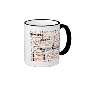 Orange Sacral Chakra Positive Affirmations Mugs