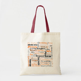 Orange Sacral Chakra Positive Affirmations Tote Bag