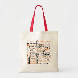 Orange Sacral Chakra Positive Affirmations Tote Bag