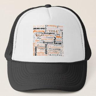 Orange Sacral Chakra Positive Affirmations Trucker Hat
