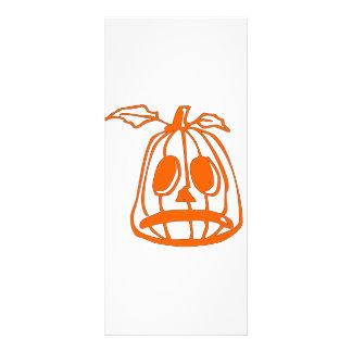 Orange Sad Pumpkin Face Rack Card