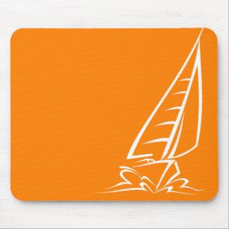 Orange Sailing Mouse Pad