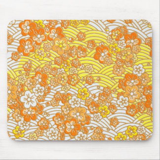 Orange Sakura Mouse Pad