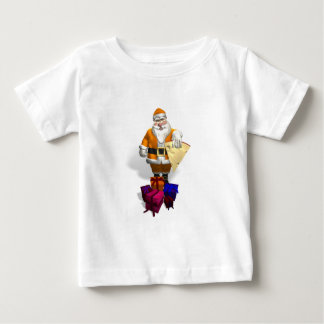 Orange Santa Claus Baby T-Shirt