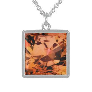 Orange Sapphire Necklace