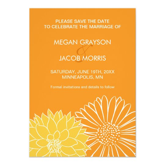 Orange Save the Date Invitation