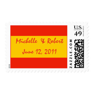 orange save the date stamps