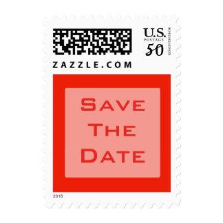 orange save the date postage