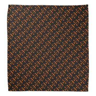 Lawyer Themed Orange Scales of Justice on Black Bandana