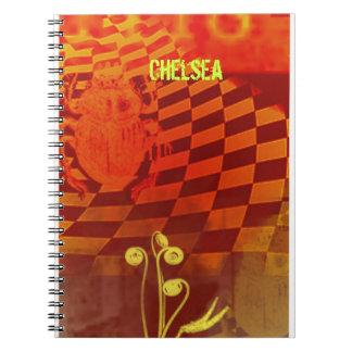 Orange Scarab Graffiti Notebook