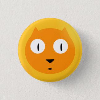 Orange Scaredy Cat Button